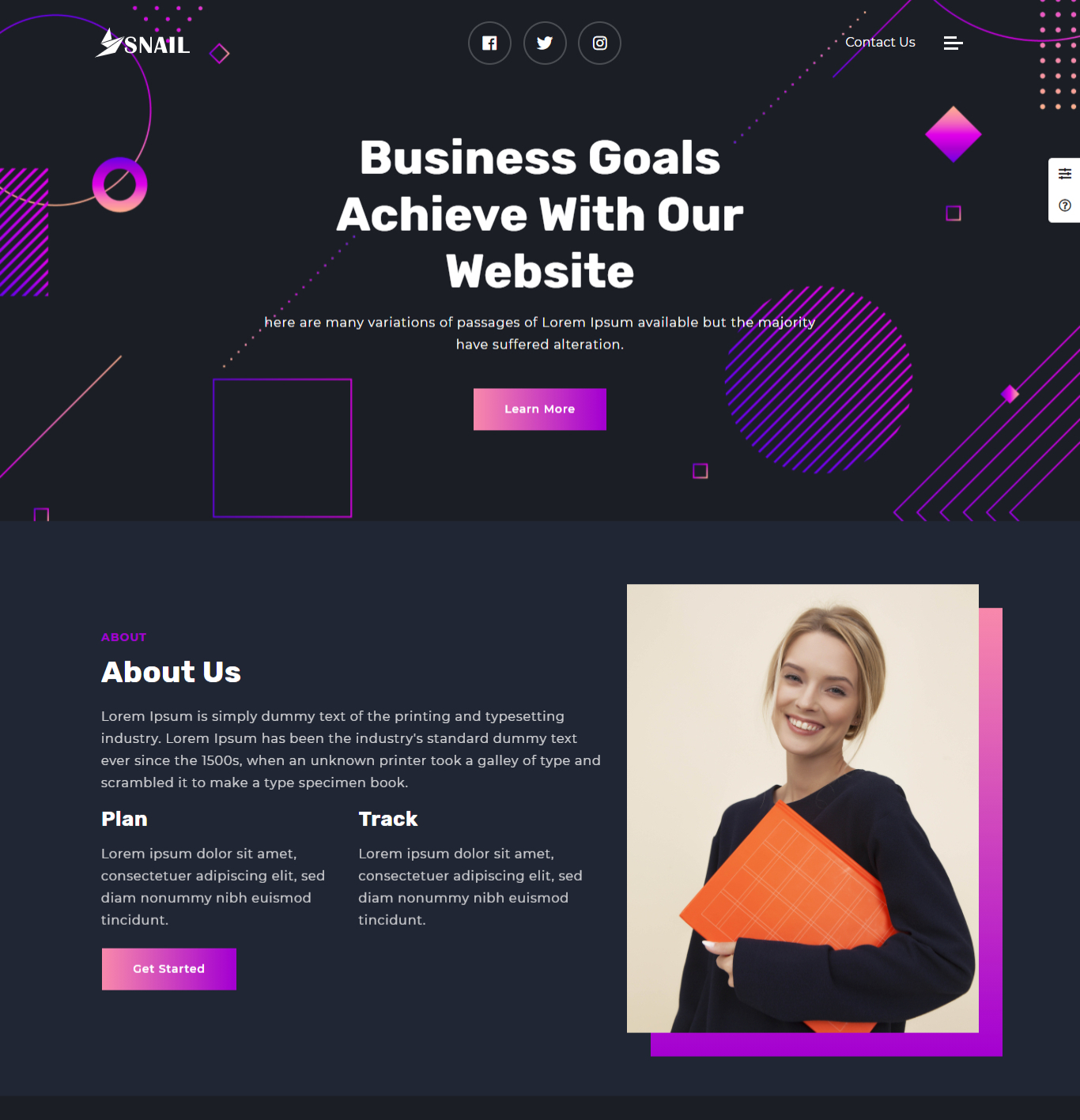 Creative agency dark Template